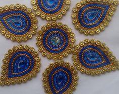 Mandala Floor Art Kundan Rangoli Design by ManoramasJewellery