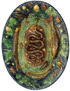 French Palissy Platter