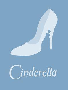 Cinderella, Minimalist Disney poster, by Citron Vert Disney Movie Posters, Film Disney, Arte Disney, Disney Magic, Disney Art, Disney Travel, Disney Minimalista, Poster Minimalista, Disney And Dreamworks