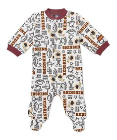 Take a look at this Red Washington Redskins Footie - Infant by NFL on #zulily today!