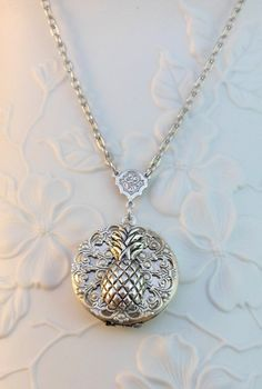 Pineapple Silver Locket