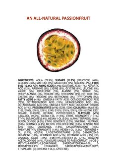 Ingredients of an All-Natural Passionfruit