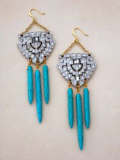 Navajo Deco Earrings