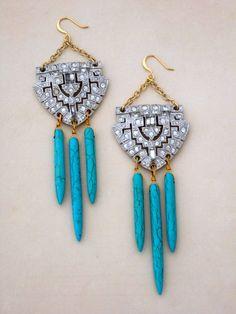 Navajo Deco Earrings