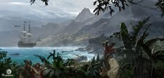 Assassins Creed Black Flag concept art | Assassin's Creed IV Black Flag Concept Art by Martin Deschambault