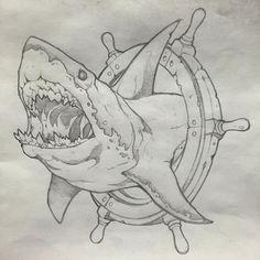 Tatto Ideas 2017 Scott on Instagram: Hi Bruce! #shark #neotraditional #bluebyrdtattoo #dayton #ohio