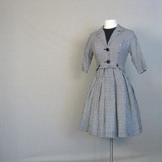1960s HOUNDSTOOTH Dress and Jacket