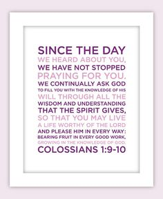 Custom Bible Verse Art by Design Gem $15.00    Put this in Parker's room?