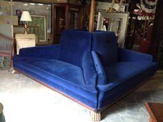 Brown Velvet Curved Hollywood Regency Sofa Http