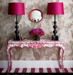 Pamela Joyce: Upholstered Furniture, handpainted console table