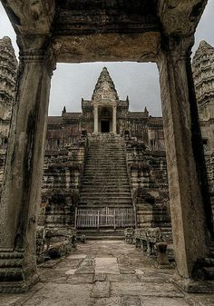 Angkor Wat in Cambodia. Originally designed as a Hindu temple that later changed to Buddhist. Discover 52 other amazing places that live up to the hype.