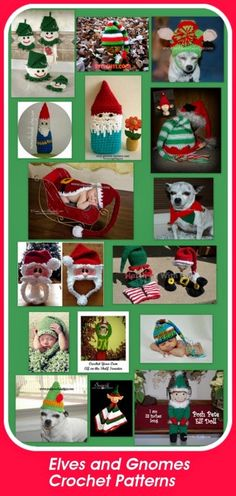 Posh Pooch Designs Dog Clothes: Elves and Gnomes Crochet Patterns - Tuesday Treasury of Crochet Patterns