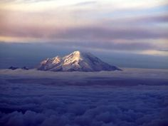 Chimborazo as seen from Cotopaxi.