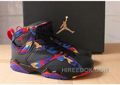"ad3ec0a92884ea 2016 Air Jordans 7 ""Nothing But Net"" Black Sweater For Sale Top Deals  Yp7WMA"