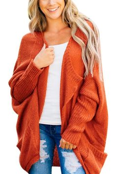 Enjoy exclusive for PASLTER Womens Cardigan Sweaters Oversized Batwing Shawl Collar Open Front Winter Chunky Knit Outwear online - Protoideas Coral Cardigan, Oversized Cardigan, Cardigan Sweaters For Women, Ribbed Sweater, Long Cardigan, Sweater Cardigan, Cardigans, Batwing Cardigan, Jumper