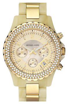 Michael Kors 'Madison' Resin & Crystal Watch #Nordstrom #NSale