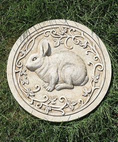 This Rabbit Garden Stone is perfect! #zulilyfinds