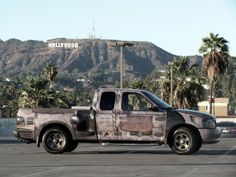 """Apocalypse Wrap"".  Truck wrap designed and installed by John King, Los Angeles."