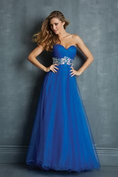 Marvelous Prom Dresses Sweetheart A Line Floor Length Tulle Pleated&Ruffled 2014