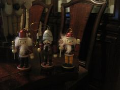 some Christmas ornament nutcrackers