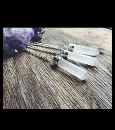 Selenite Wand Necklace - Kruel Intentions