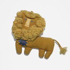 Marilyn Neuhart Dollㅣ  Neuhart's handmade lion doll was created for Alexander Girard's Textiles and Objects shop in New York, circa 1961.