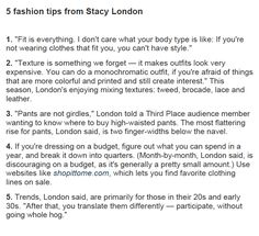 5 Fashion Tips From Stacy London