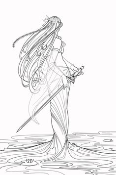 Lady of the lake- ink by China-Hartz on DeviantArt