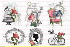 Möbeltattoo`s Nostalgie Shabby Transparent 1278 von Doreen`s Bastelstube  - Kreativ & Außergewöhnlich auf DaWanda.com