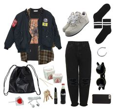 """""""nocturne"""" by pallo ❤ liked on Polyvore featuring Givenchy, NIKE, Boutique, Monki, Manic Panic and Case-Mate"""