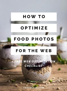 Click to learn how to optimize your food photos for better website traffic, engagement and sales. #foodphotography