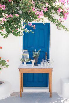 A romantic wedding in Santorini Island Romantic Weddings, Elegant Wedding, Santorini Island, Santorini Wedding, White Ribbon, Newlyweds, Rustic Decor, Greenery, Wedding Planner