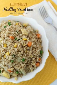 Easy Homemade Healthy Fried Rice Recipe, taste like restaraunt but healthier and a fraction of the price