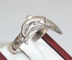 Delphin+Ring+in+925er+Silber+17,9+mm+SR278+von+Atelier+Regina++auf+DaWanda.com