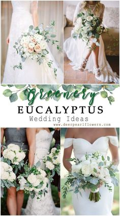 40 Greenery Eucalyptus Wedding Decor Ideas Wedding ideas with eucalyptus – bridal bouquets with eucalyptus: so hot right now! l # Brautstrauß l wedding eucalyptus l bridal bouquet eucalyptus l wedding flowers eucalyptus Floral Wedding, Wedding Bouquets, Wedding Flowers, Wedding Dresses, Wedding Cakes, Wedding Greenery, Wedding Arrangements, Wedding Attire, Floral Arrangements