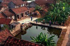 Phong cảnh làng quê xinh đẹp, yên bình, đồ ăn đa dạng và hấp dẫn,