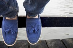 Passo Footwear Loafer Suede Blue