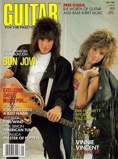 """Richie Sambora & Jon Bon Jovi on the cover of """"Guitar"""" magazine"""