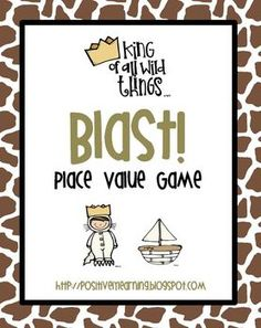 "Here's a freebie to celebrate the life of Maurice Sendak! It's the game ""Blast"" featuring graphics from my favorite children's book & base ten blocks. Game cards and base ten block cards 1-36 are included, as well as a blank template. Thanks for stopping by!"