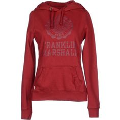 Franklin & Marshall Sweatshirt ($83) ❤ liked on Polyvore featuring tops, hoodies, sweatshirts, red, red sweat shirt, long sleeve tops, long sleeve sweatshirt, sweatshirts hoodies and red sweatshirt