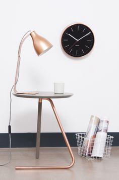 Mooie koperen lamp met een industrieel tintje! #copper #light