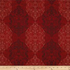 Kanvas Renaissance Man Filigree Red from @fabricdotcom  Designed by Maria Kalinowski for  Benartex, this cotton print fabric is perfect for quilting, apparel and home decor accents. Colors include maroon, red and coral red.