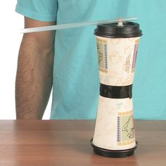 DRAG RACING CUPS Finish your coffee and use this fun and simple experiment to create an awesome racer -- Steve Spangler Science Science Classroom, Teaching Science, Science Activities, Science Experiments, Science Ideas, Classroom Ideas, Physical Science, Science Fair, Science For Kids
