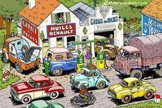 Car Illustration, Illustrations, Bd Comics, Funky Art, Comic Drawing, Car Drawings, Retro Cars, Comic Artist, Car Pictures