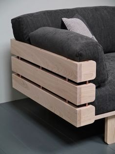 This is what happens when you design with popsicle sticks. The Hedges sofa by Barnby Designs is a striking sofa design embodying the elegance of simplicity. Diy Cardboard Furniture, Diy Barbie Furniture, Homemade Furniture, Plywood Furniture, Dollhouse Furniture, Diy Dollhouse, Dollhouse Miniatures, Sticks Furniture, Deck Furniture