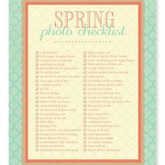 LADIES - What a great list for your Digital Scrapbooking photo ops - I love this list!
