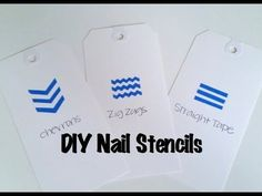 How to make your own nail stencils using painter's tape - YouTube