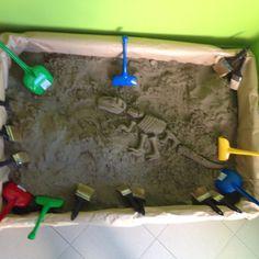 Dino BIRTHDAY party Dino dig excavation field