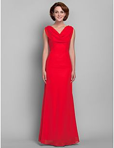 Trumpet/Mermaid V-neck Chiffon Mother of the Bride Dress (61... – USD $ 46.17