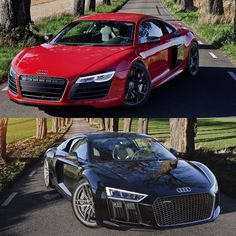 Repost via Instagram: Same location with same sun position with two generations posing proudly.  PS. And if anybody thinks that the bottom photo looks fake check the uploaded video after this to see the phenomenon of sun light.  Cars:  2014 @Audi R8 V10 Plus (550hp V10 5.2 NA) 2016 @Audi R8 V10 Plus (610hp V10 5.2 NA) Performance 0-100kmh(62mph): 2016 R8: 2.87seconds (tested) 3.2 seconds (official) 2014 R8: 3.44seconds (tested) 3.5 seconds (official) Colors: Brilliant red metallic / Mythos…